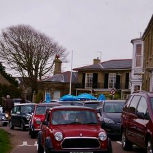 East Coast Mini Club Charity Run – end point – Southwold 13